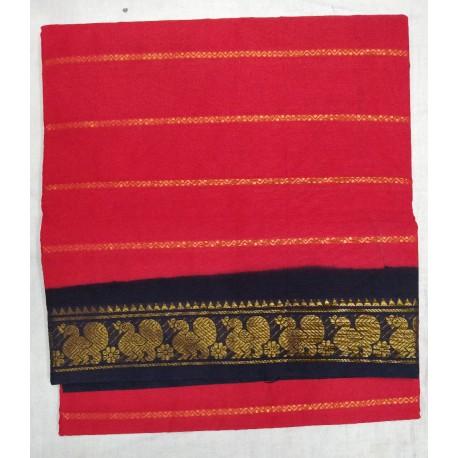 Madurai Sungudi Sarees - Double side Jari Border body  velthari jari
