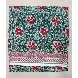 Madurai Sungudi Sarees - Double side jari border with fancy prints