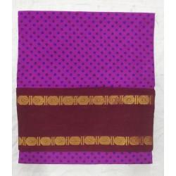 Madurai Sungudi Sarees - one side rudhraksham jari border