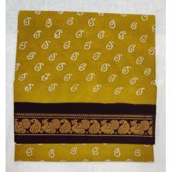 Madurai Sungudi Sarees - one side Jari Border wax prints